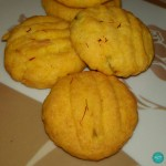 Eggless Saffron-Nuts Cookies