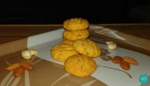 Eggless-Saffron-Nuts-Cookies-recipe